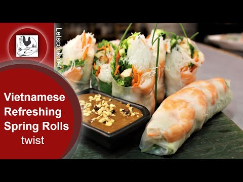 Vietnamese Spring Rolls Refreshing Appetizer Recipe