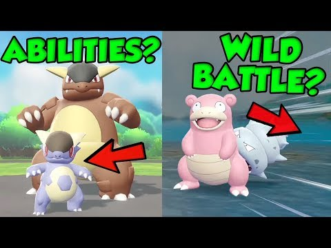 WILD BATTLES AND ABILITIES SHOWN IN NEW POKEMON LET'S GO TRAILER?!?