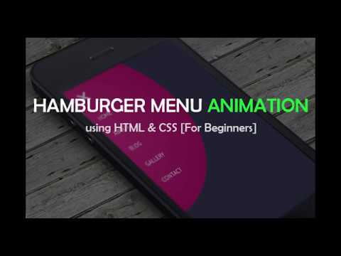 Easy Hamburger Menu Animation Using HTML, CSS [For Beginners]