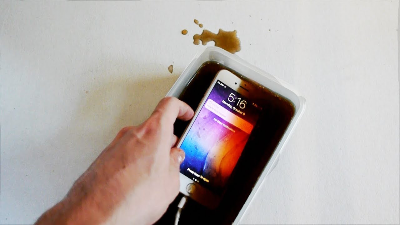 iphone 8 in coca cola for 7 days will it survive youtube. Black Bedroom Furniture Sets. Home Design Ideas