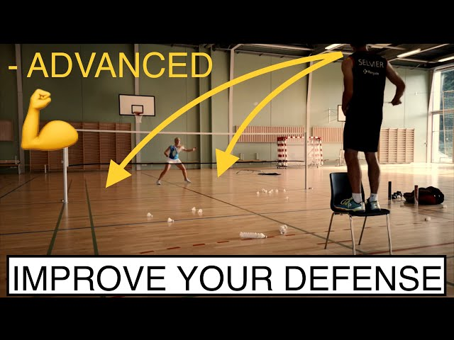 BADMINTON EXERCISE #78 - HOW TO IMPROVE YOUR DEFENSE? CHAIR FEEDING