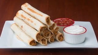 Cheesy Chicken Rolled Tacos (Flautas)