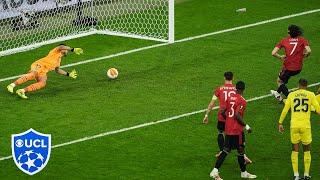 Edinson Cavani Goal   Villarreal vs Manchester United   Europa League Final   UCL on CBS Sports