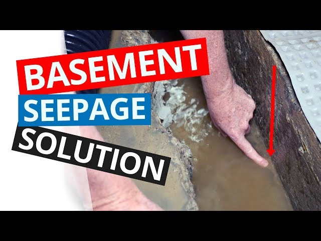 Wet Basement Solutions | Installing an Interior Drainage System