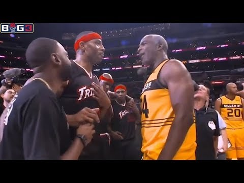 Charles Oakley Full Highlights vs Trilogy (Funny/Many Fouls) Dirty Game / Oakley BIG3 Debut / Week 8