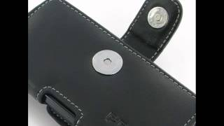 pdair leather case for sony walkman nw f880 nw f885 nw f886 nw f887 horizontal pouch type black