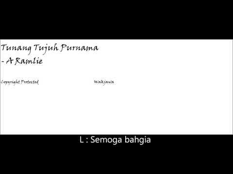 TUNANG TUJUH PURNAMA - A RAMLIE