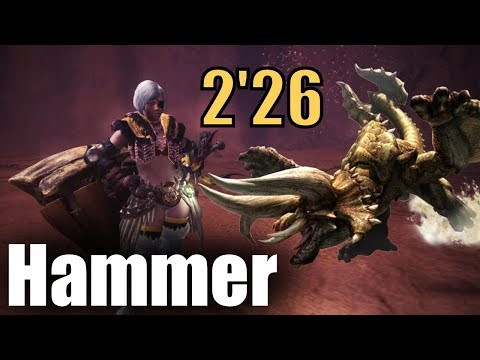 Monster Hunter World (MHW) - Para-Hammer vs HR Diablos (2'26)