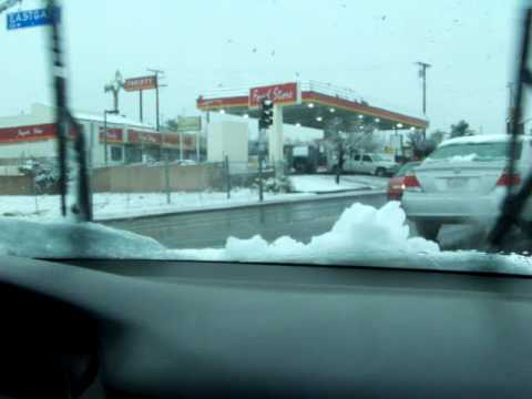 A Rare Snow In Barstow Ca Youtube
