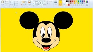 How to Draw Mickey Mouse in MS Paint