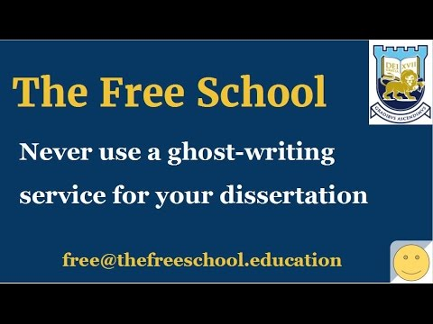 PhD thesis - never use a ghost writing service for a PhD thesis