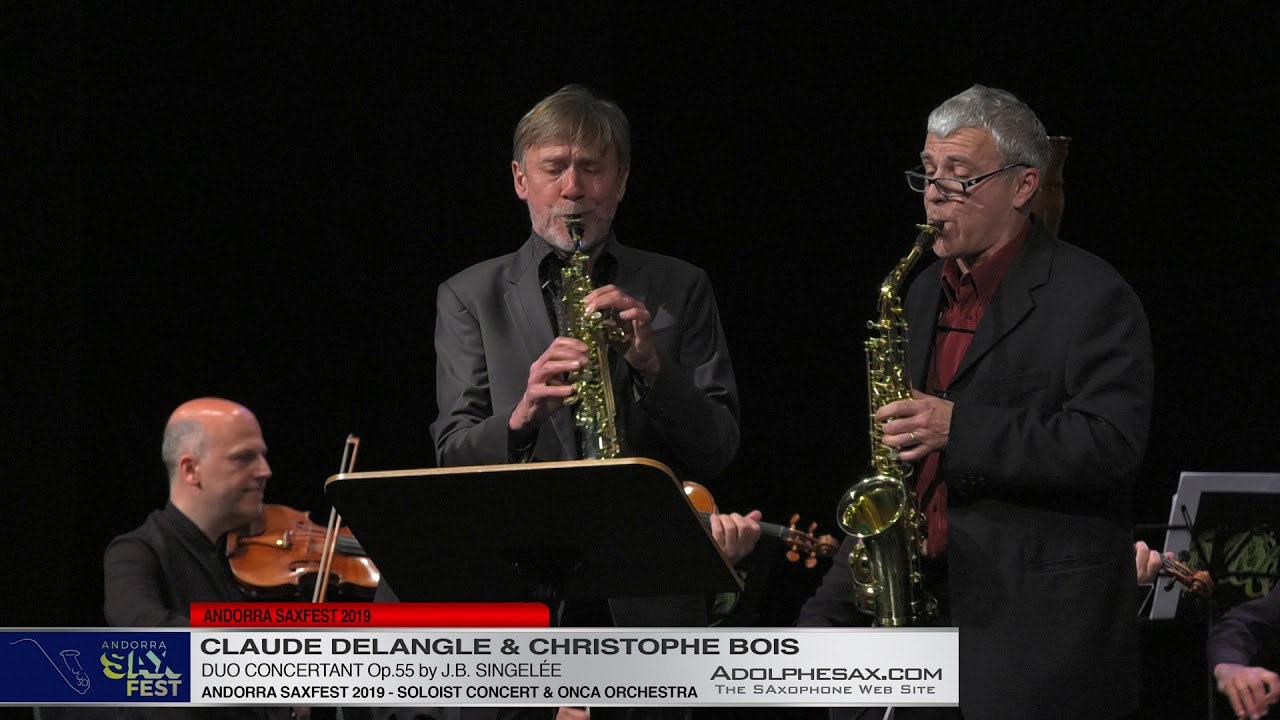 Andorra Saxfest 2019   Claude Delangle & Christophe Bois   Duo Concertant Op 55 by J B  Singele?e