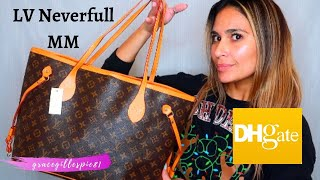 Bougie on a Budget | Neverfull MM Unboxing | My First Replica from Dhgate | Monogram Canvas