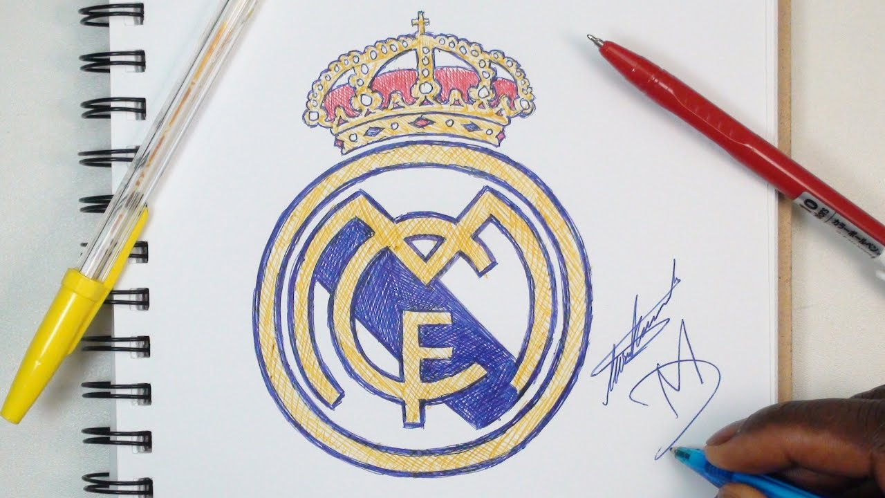 real madrid logo how to draw