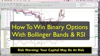 Binary Options Strategy: 2 Powerful Ways To Win With Bollinger Bands & RSI (Live Trade at End!)