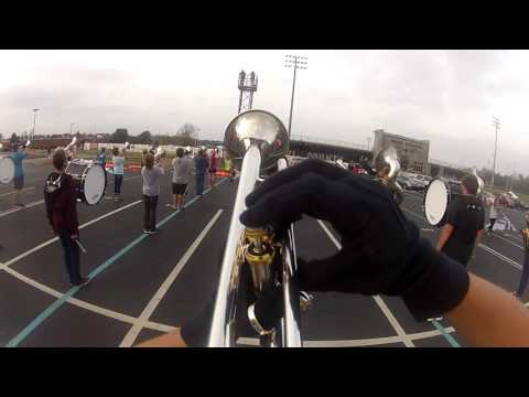 Boyle County Marching Band 2016 trumpet go-pro 2