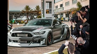 Widebody Bagged Ford Mustang SHUTS DOWN Car Meet