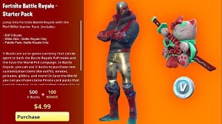 "VOICI THE NEW ""STARTER PACK"" SAISON 10 AND ""600 VBUCKS"" ON FORTNITE!!"