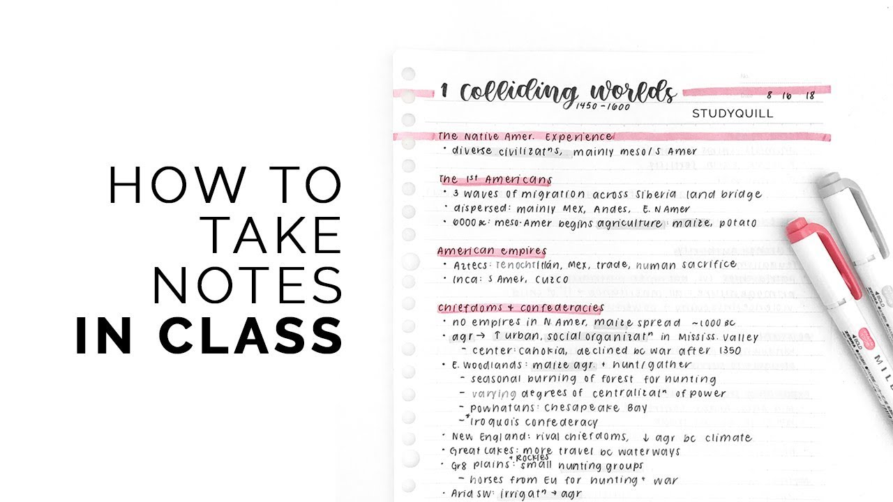 Download how i take notes in class 📓 quick + effective note-taking methods!