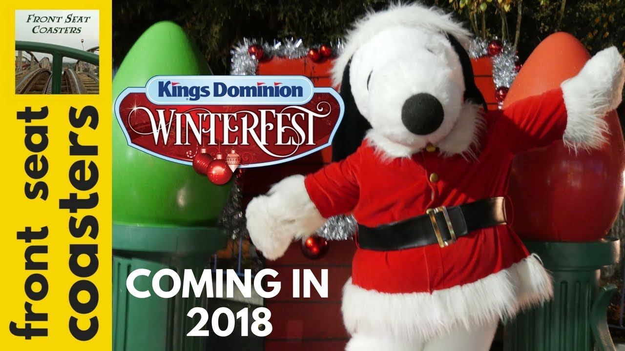 Snoopy is Bringing Winterfest to Kings Dominion in 2018 ...