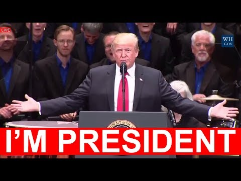 PRESIDENT DONALD TRUMP TO FAKE NEWS MEDIA: I'm President and They're Not' Trump Attack Freedom Rally