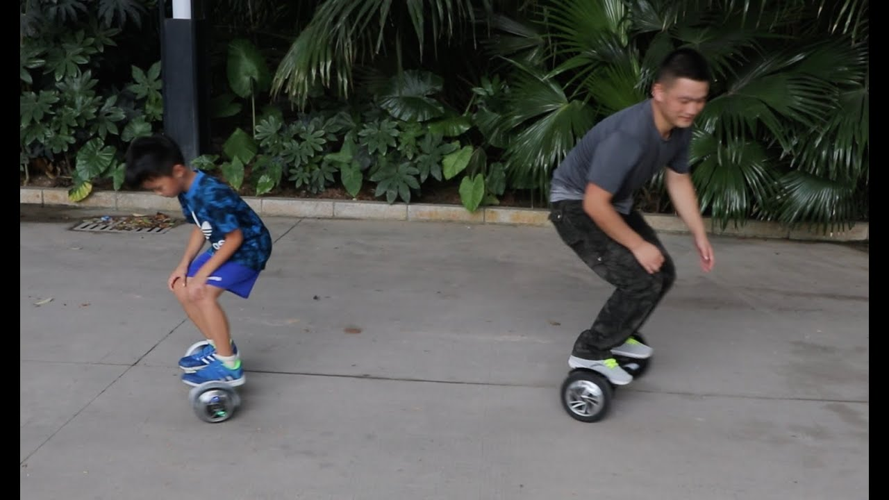7 year old ride hoverboard in the Park - YouTube