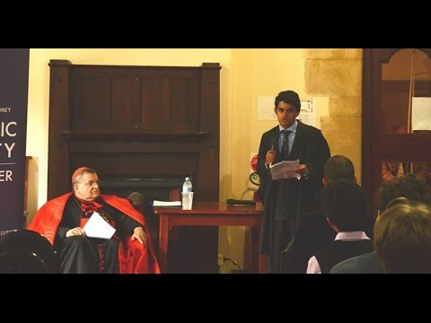 Q&A with Raymond Cardinal Burke at the University of Sydney