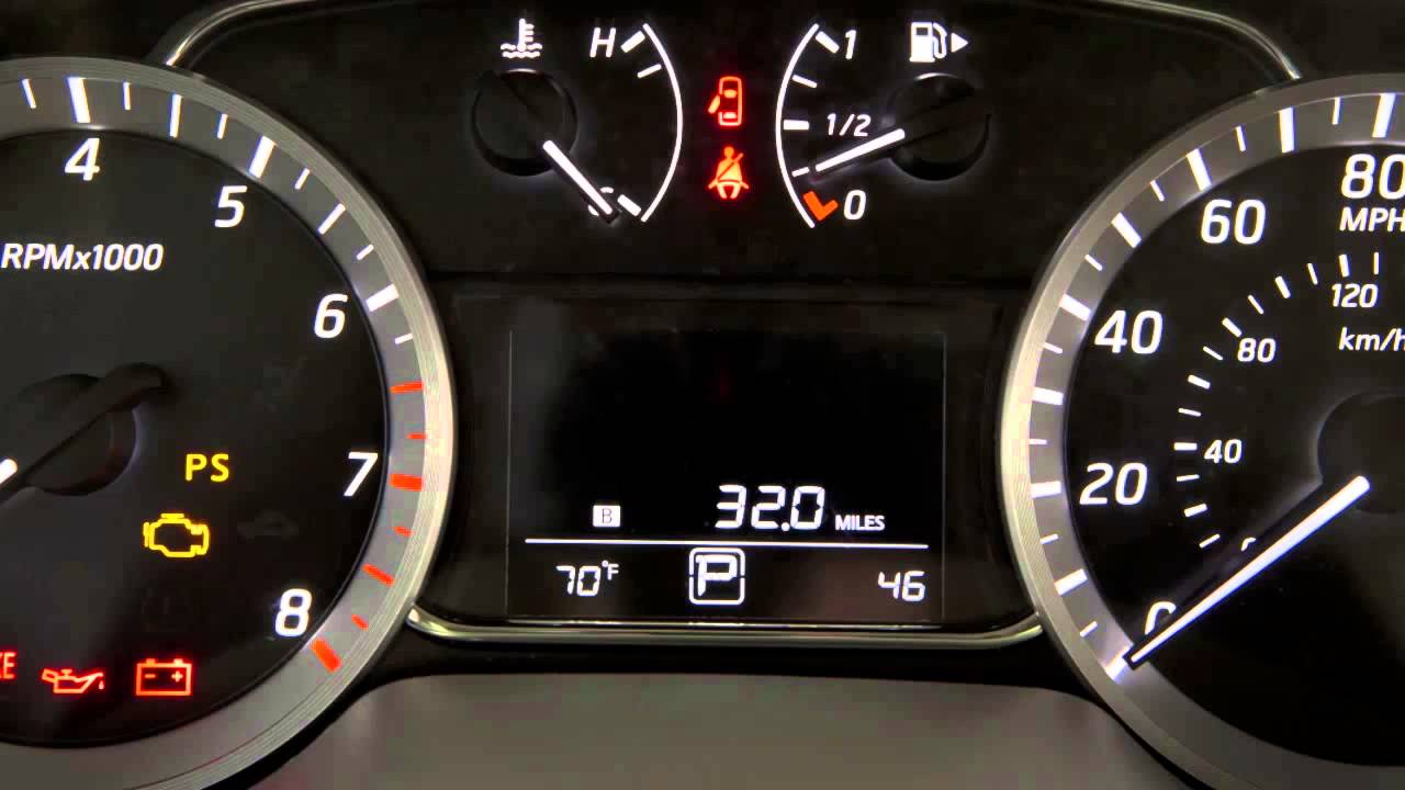 2014 NISSAN Sentra - Warning and Indicator Lights - YouTube
