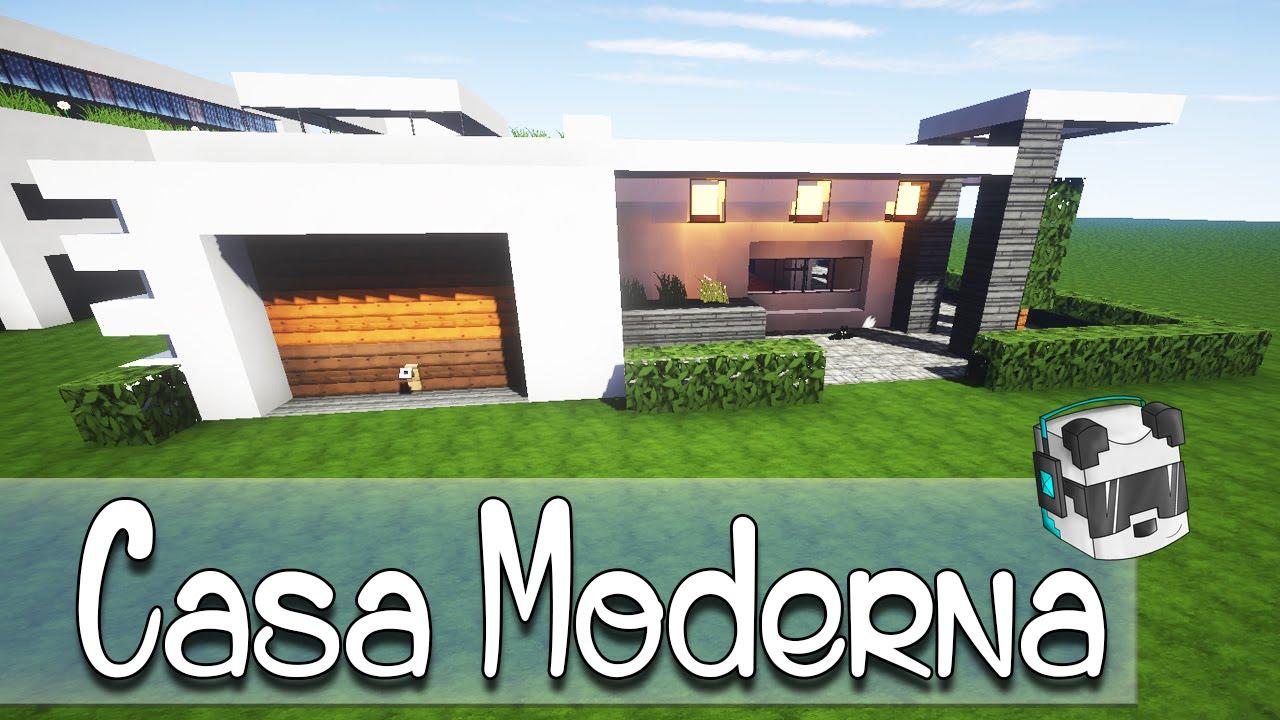 Como hacer una casa moderna en minecraft youtube for Casa moderna numero 1