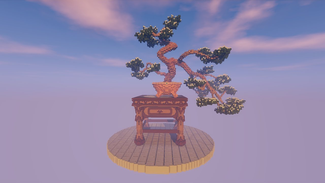Bonsai Tree Minecraft Build Timelapse Speed Build Youtube