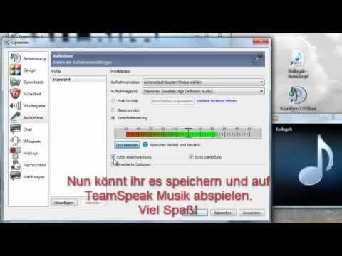 [Tutorial] Auf TeamSpeak³ Musik abspielen! Ohne Download! Einfach!