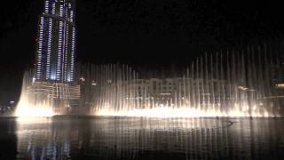 Burj Khalifa fountain show in 1080p HD