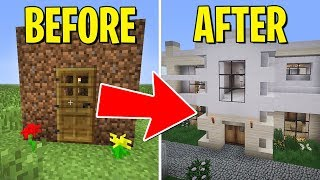 Renovating my HOUSE with SECRET ROOMS! (Minecraft)