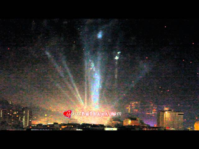 Pattaya Fireworks New Year Countdown