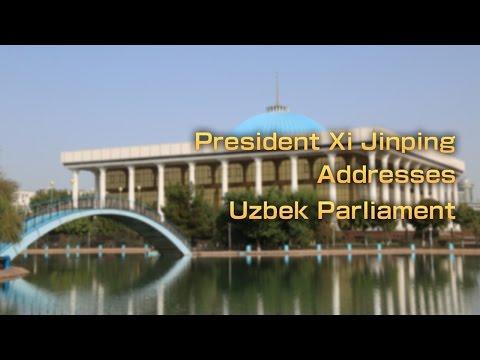 President Xi Jinping addresses Uzbek Parliament