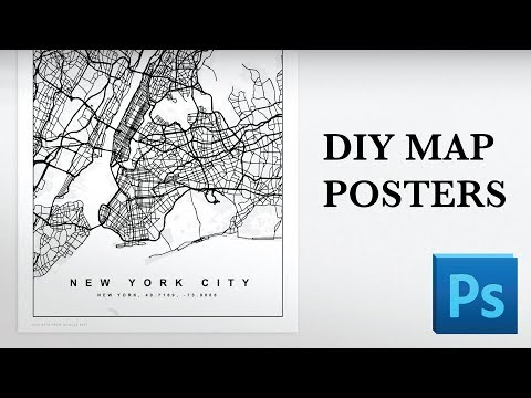 Map Posters In Photoshop Tutorial