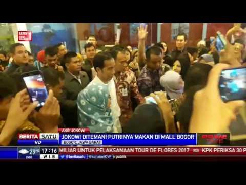 Jokowi Ditemani Putrinya Makan di Mall Bogor
