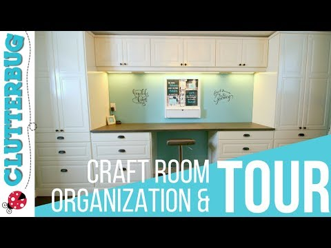 Craft Room Organization, Ideas and Tour
