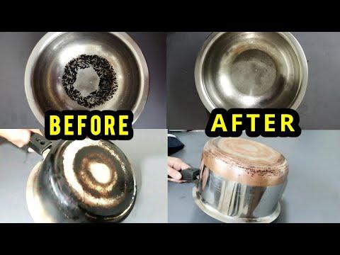 HOW TO CLEAN BURNT COOKING VESSELS EASILY//കരിഞ്ഞുപോയ പാത്രങ്ങൾ എളുപ്പത്തിൽ എങ്ങനെ വൃത്തിയാക്കാം