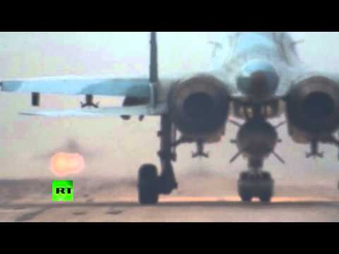FIRST VIDEO: Russian warplanes leaving airbase in Syria