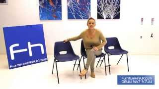 Blue Polyprop Chair Demo - Furniture Hire Uk