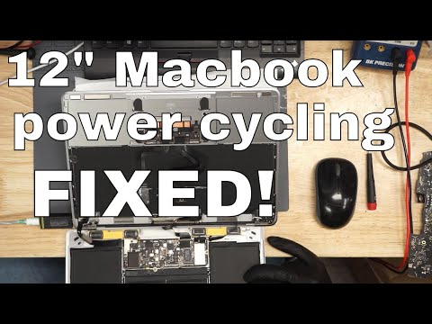 "A1534 12"" Macbook, 820-00045 30-60 milliamp power cycling: logic board repair. - 동영상"