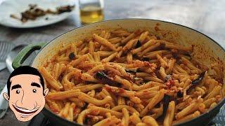 Pasta Alla Norma | Sicilian Eggplant Pasta Recipe | Italian Eggplant Recipe