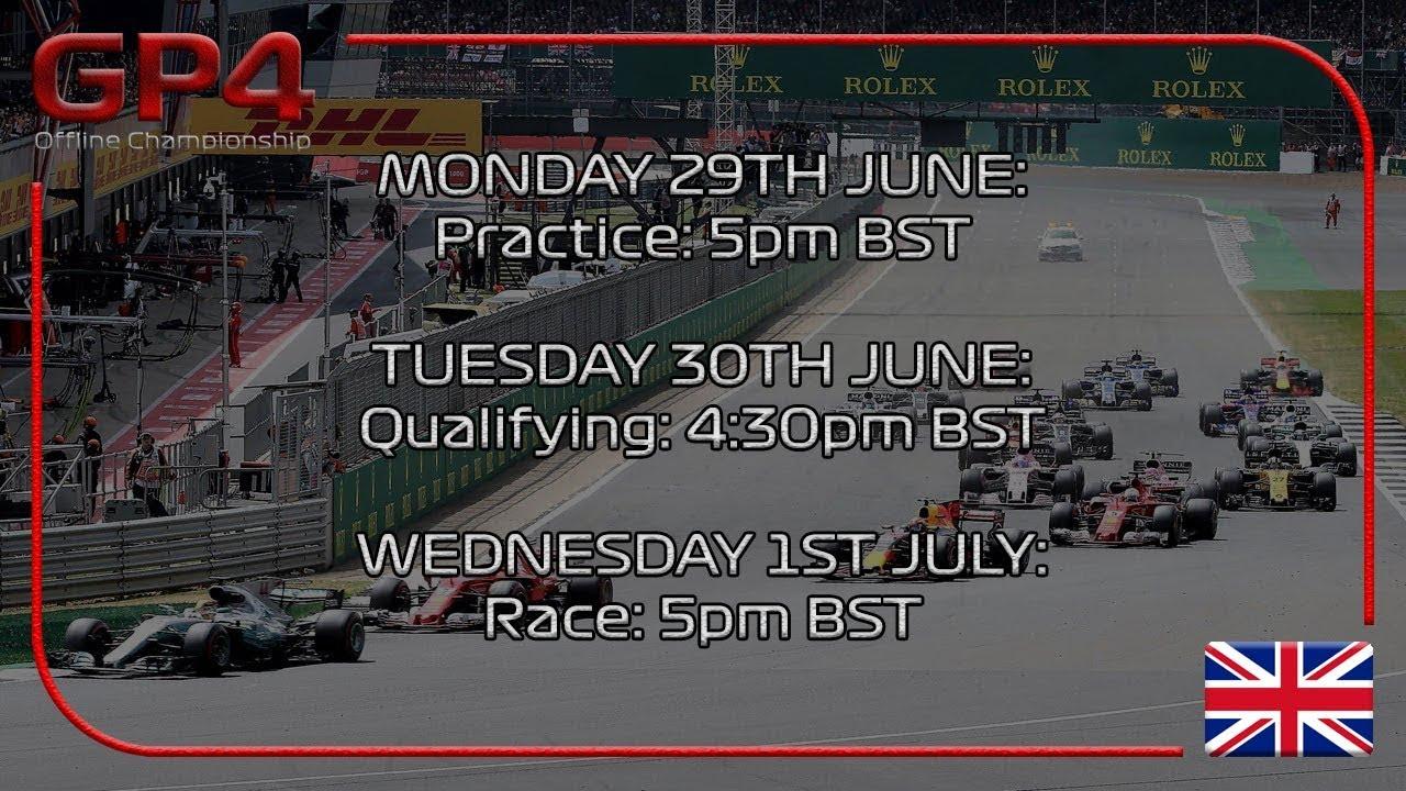 GP4 Offline Championship Season 2017:Round 10:Britain Practice