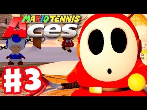 Mario Tennis Aces - Gameplay Walkthrough Part 3 - Snowfall Mountain! (Nintendo Switch) - 동영상
