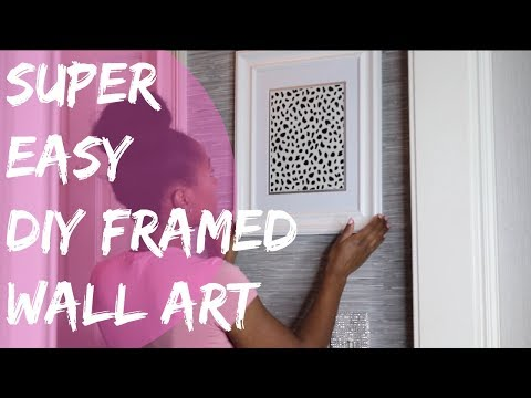 DIY FRAMED WALL ART |  SO EASY YOUR GONNA BE MAD 😂😂
