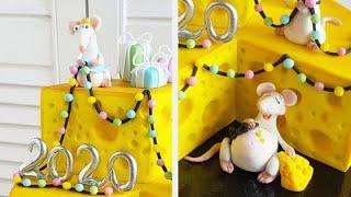 """Торт с мышатами, урок 2. Марафон """"Новогодние мышата"""""""