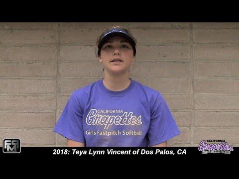 2018 Teya Lynn Vincent Shortstop Softball Skills Video - California Grapettes
