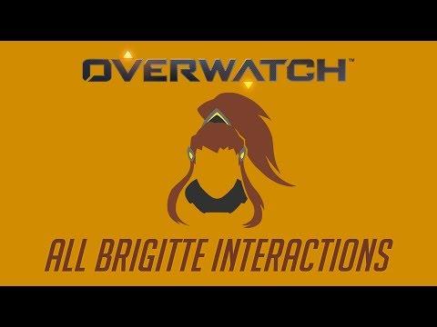 Overwatch - All Brigitte Interactions + Unique Kill Quotes