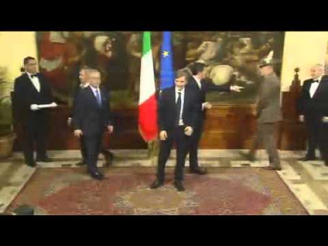 Passaggio consegne Enrico Letta e Matteo Renzi